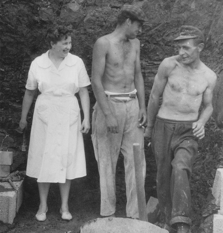 Kissel 1949 - Bauarbeiten an der Backstube